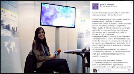 Entrevista de Igualdad en Kepler