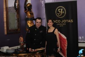 Jose Sol, de Spanish Ham Master y Patricia Israel, de Gentenentos. Foto: Rocio Martinez